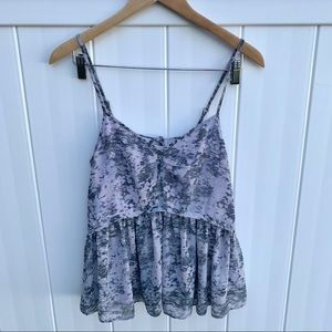 Kimchi Blue Urban Outfitters Printed Tie Back Top